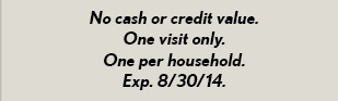 No cash or credit value.
